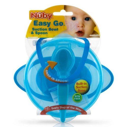 Tigela-com-Ventosa-e-Colher-Easy-Go-Azul---Nûby